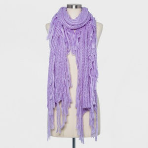 Womens Knit Scarf with Fringe - A New Day™ Lilac